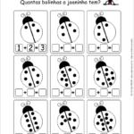 Atividades de Matemática Prontas para Imprimir - Números de 1 a 10 preencher joaninha
