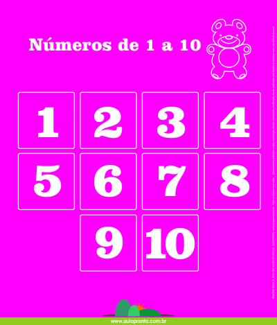 Atividades de Alfabetização - Matemática - Números de 1 a 10 - Painel Didático