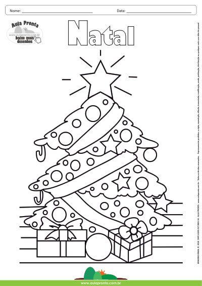Desenho Para Colorir Feriado Natal árvore De Natal Aula Pronta