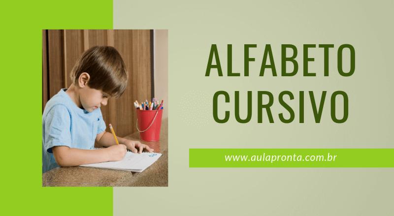 Atividades Com Alfabeto Cursivo
