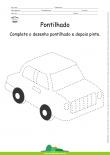 Desenho para Colorir – Pontilhado – Carro