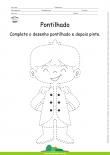 Desenho para Colorir – Pontilhado – Príncipe