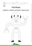 Desenho para Colorir – Pontilhado – Robô