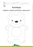 Desenho para Colorir – Pontilhado – Ursinho