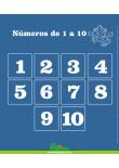 Números de 1 a 10 - Painel Didático