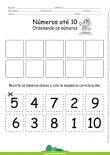 Números de 1 a 10 - Recortar e Ordenar