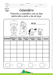 Calendário - Preencha com os dias do mês