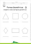 Formas Geométricas - Complete os Nomes