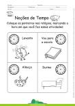 Noções de Tempo - Ponteiros do Relógio