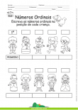Números Ordinais - Crianças