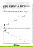 Ordem Crescente e Decrescente - Complete a Escada