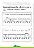 Ordem Crescente e Decrescente - Complete a sequência numérica