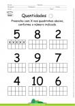 Quantidades - Preencha com X o número indicado