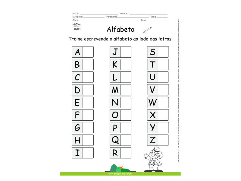 Alfabeto - Treine as letras