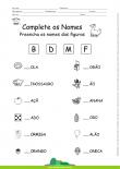 Complete os Nomes com as Letras – B, D, M e F