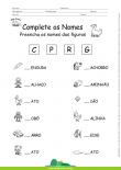Complete os Nomes com as Letras - C, P, R e G