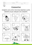 Consoantes - Complete com a letra inicial dos desenhos