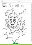 Desenho para Colorir – Animais - Abelha