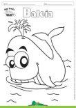 Desenho para Colorir – Animais - Baleia