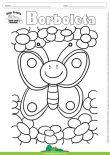 Desenho para Colorir – Animais - Borboleta