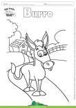 Desenho para Colorir – Animais - Burro