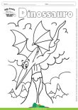 Desenho para Colorir – Animais - Dinossauro