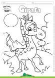 Desenho para Colorir – Animais - Girafa