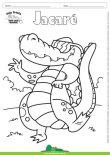 Desenho para Colorir – Animais - Jacaré