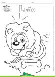 Desenho para Colorir – Animais - Leão