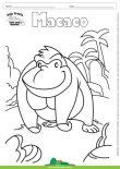Desenho para Colorir – Animais - Macaco