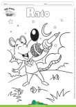 Desenho para Colorir – Animais - Rato