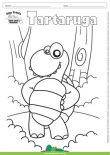 Desenho para Colorir – Animais - Tartaruga