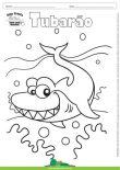 Desenho para Colorir – Animais - Tubarão