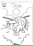 Desenho para Colorir – Animais - Vaca