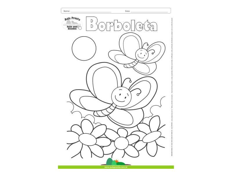 Desenhos para Colorir - Borboletas