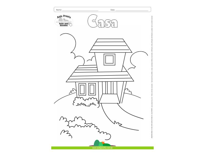Desenhos Para Colorir Casa Aula Pronta