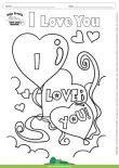 Desenho para Colorir – Fantasia - Amor - I Love You