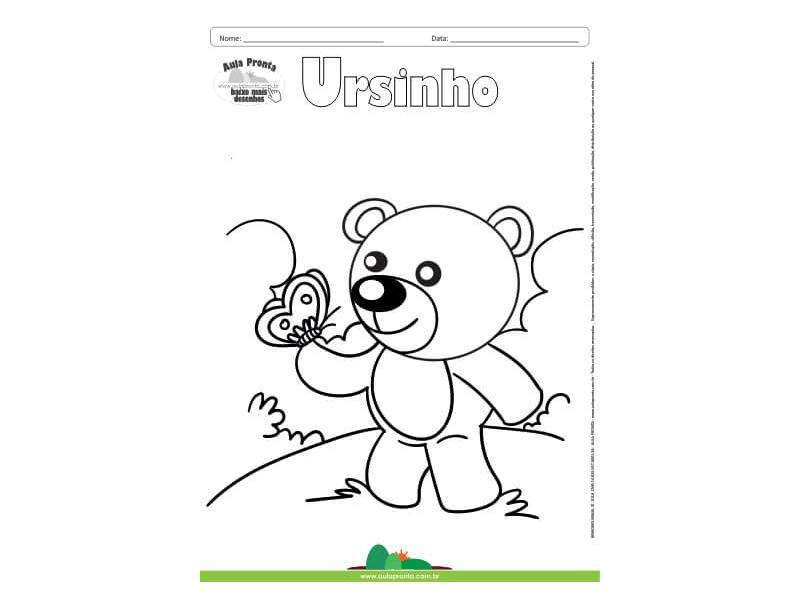Desenho para Colorir – Fantasia - Ursinho