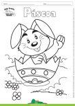 Desenho para Colorir – Feriado - Páscoa - Coelho