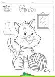 Desenhos para Colorir - Gato