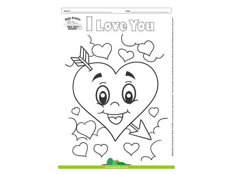 Desenhos para Colorir – I Love You