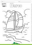 Desenho para Colorir – Transporte Barco