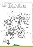 Desenho para Colorir – Transporte Bicicleta