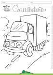 Desenho para Colorir – Transporte Caminhão