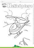 Desenho para Colorir – Transporte Helicóptero