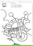 Desenho para Colorir – Transporte Moto