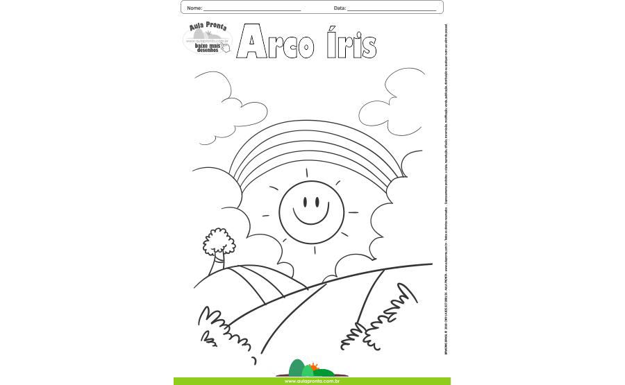 Desenhos para Colorir - Arco Íris