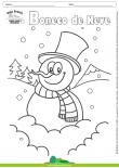 Desenhos para Colorir - Boneco de Neve de Cartola