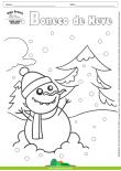 Desenhos para Colorir - Boneco de Neve