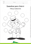 Desenhos para Colorir - Palhaço Malabarista